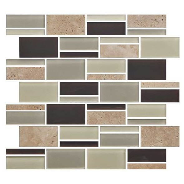 "Supplier: American Olean, Series: Color Appeal Glass, Name: C138 Canyon Trail Blend - Glossy, Type: Glass Tile Mosaic, Size: 3"" X Random"
