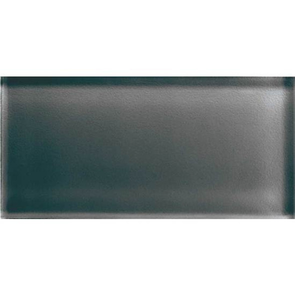Supplier: American Olean, Series: Color Appeal Glass, Name: C121 Charcoal Gray - Glossy, Type: Brick Subway Glass Tile, Size: 3X6