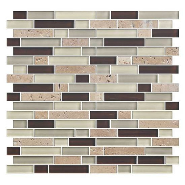Supplier: American Olean, Series: Color Appeal Glass, Name: C138 Canyon Trail Blend - Glossy, Type: Glass Tile Mosaic, Size: 5/8 X Random