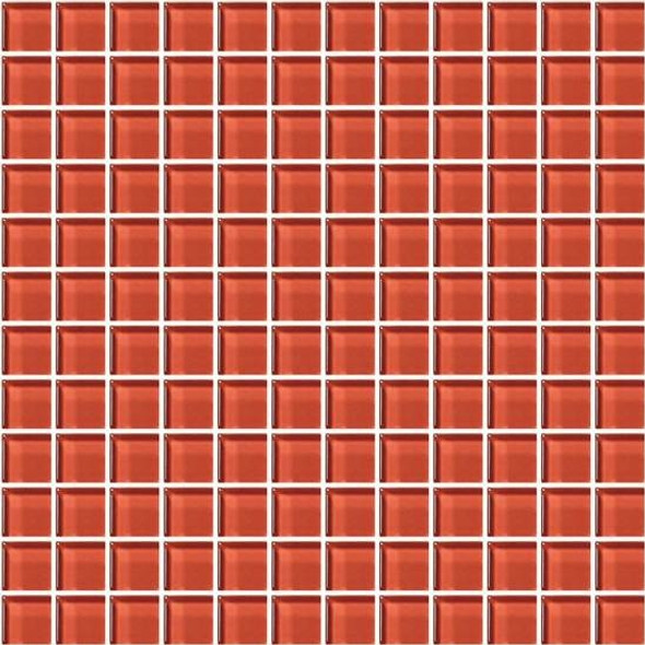 Supplier: American Olean, Series: Color Appeal Glass, Name: C116 Auburn - Glossy, Type: Glass Tile Mosaic, Size: 1X1