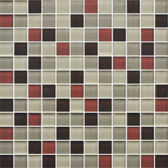 Supplier: American Olean, Series: Color Appeal Glass, Name: C131 Earth Fire Blend - Glossy, Type: Glass Tile Mosaic, Size: 1X1
