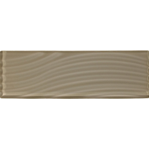 Supplier: American Olean, Series: Color Appeal Entourage Glass, Name: C105 Plaza Taupe - Glossy, Type: Brick Subway Glass Tile, Size: 4X12