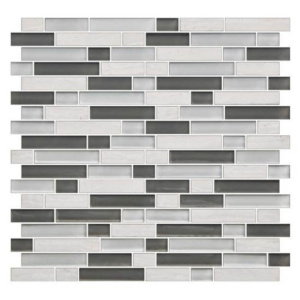 Supplier: American Olean, Series: Color Appeal Glass, Name: C140 Mountain Morning Blend - Glossy, Type: Glass Tile Mosaic, Size: 5/8 X Random