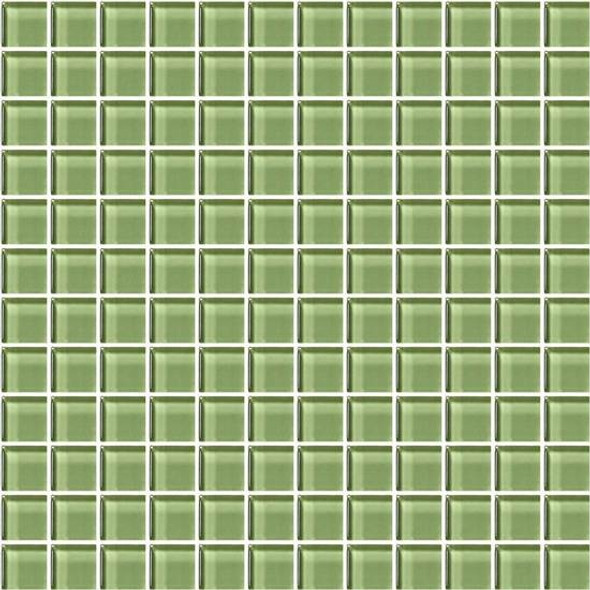 Supplier: American Olean, Series: Color Appeal Glass, Name: C111 Grasshopper - Glossy, Type: Glass Tile Mosaic, Size: 1X1
