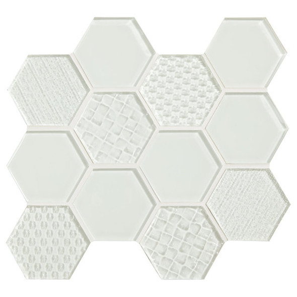 Supplier: American Olean, Series: Color Appeal Glass, Name: C101 Pearl - Glossy, Type: Glass Tile Mosaic, Size: 1X1