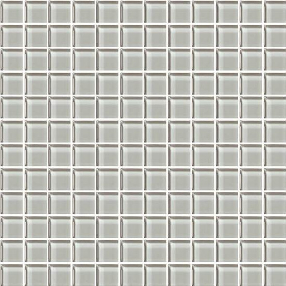 Supplier: American Olean, Series: Color Appeal Glass, Name: C102 Silver Cloud - Glossy, Type: Glass Tile Mosaic, Size: 1X1