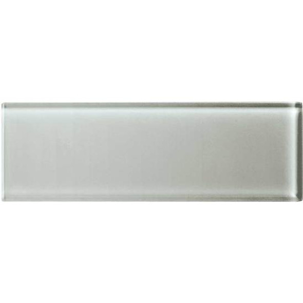 Supplier: American Olean, Series: Color Appeal Glass, Name: C102 Silver Cloud - Glossy, Type: Brick Subway Glass Tile, Size: 4X12