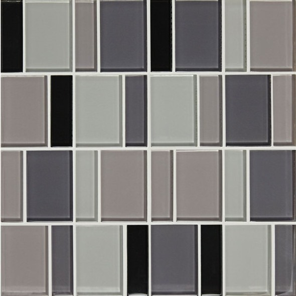 "Supplier: American Olean, Series: Color Appeal Renewal Glass Tile Mosaic, Name: C135 Midnight Sky Blend - Glossy, Size: 3"" Block"