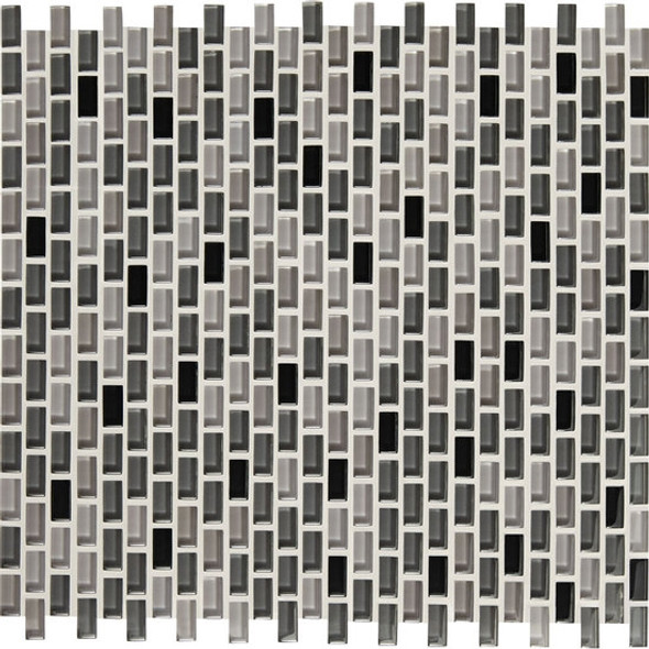 Supplier: American Olean, Series: Color Appeal Renewal Chain Link Glass Tile Mosaic, Name: C135 Midnight Sky Blend, Size: Micro Brick