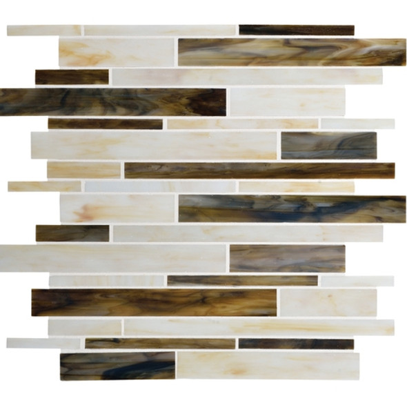 Daltile Serenade Stained Glass Mosaic - F183 Music City - Random Linear Glass Tile Mosaic * SAMPLE *