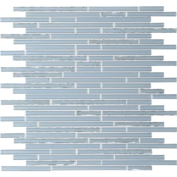 Supplier: Daltile Fanfare, Series: Opulence, Name: OP02 Aquamarine Deep Ice, Size: Random Linear