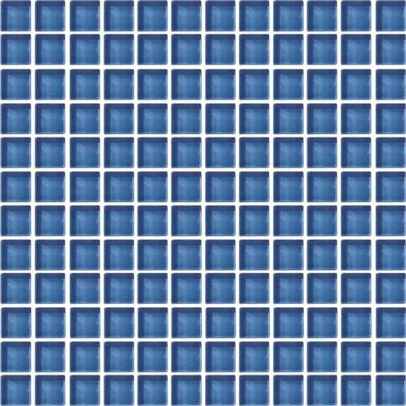 Daltile Color Wave Glass - CW14 Twilight Blue - 1 X 1 Dal Tile Glass Tile - Glossy - Sample