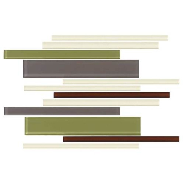 Daltile Color Wave Glass - CW26 Autumn Trail Blend - Random Linear Dal Tile Glass Tile - Glossy - Sample