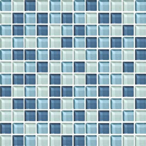 Supplier: Daltile, Series: Color Wave, Name: CW27 Winter Blues - Glossy, Category: Glass Tile, Size: 1 X 1