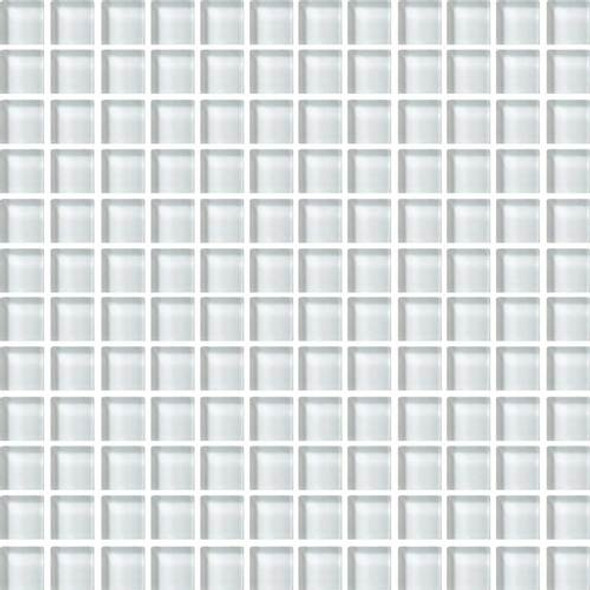 Daltile Color Wave Glass - CW02 Feather White - 1 X 1 Dal Tile Glass Tile - Glossy - Sample