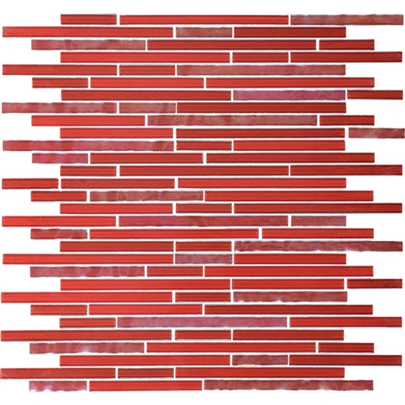 Supplier: Daltile Fanfare, Series: Opulence, Name: OP05 Ruby Flare, Size: Random Linear