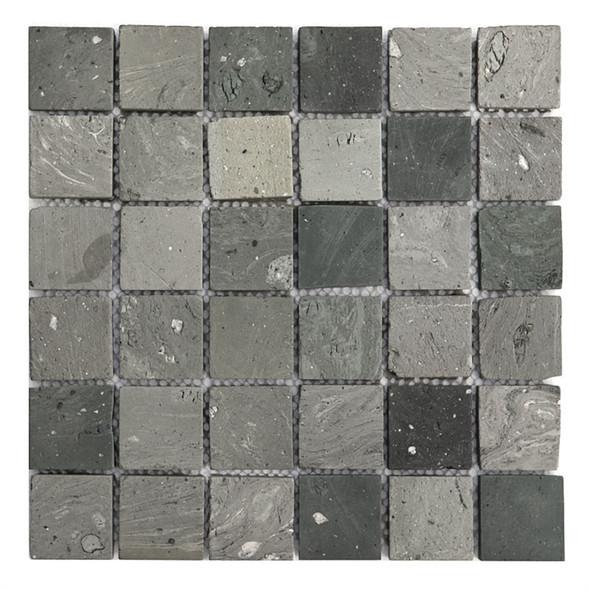 Bristol Studios - Terra Mosaics - G4381 Kerry - 2X2 Square Terracotta Handcrafted Unglazed Mosaic Tile - Sample