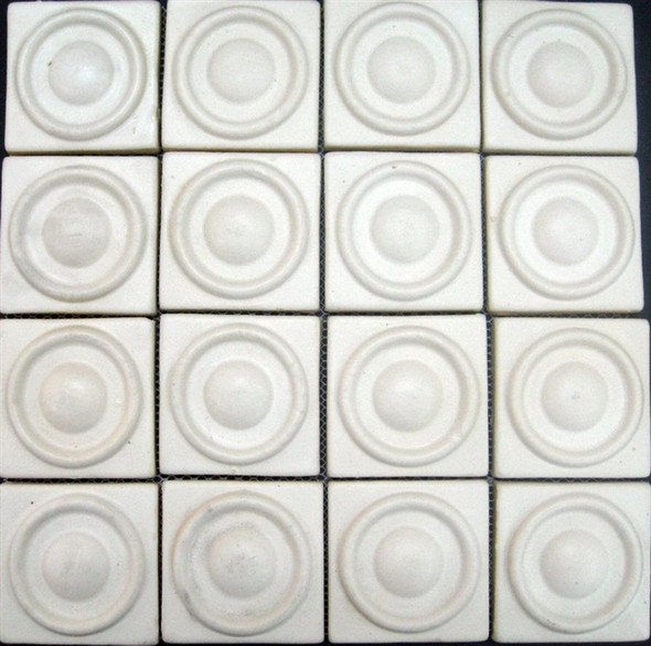 Bristol Studios - Dots & Decos - G2793 Drop Cream - Hand Crafted Contoured Decorative Mosaic Tile - Sample