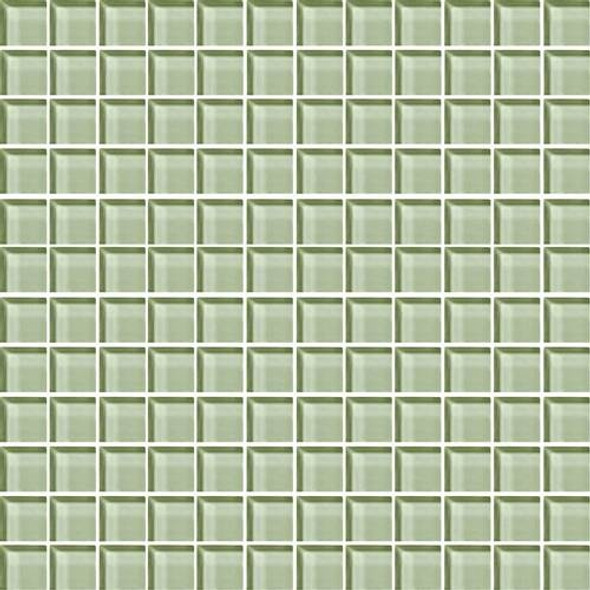 Daltile Color Wave Glass - CW15 Green Parade - 1 X 1 Dal Tile Glass Tile - Glossy - Sample