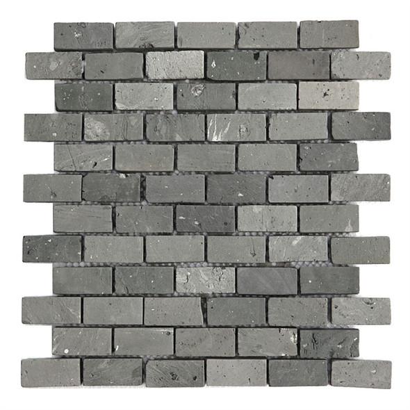 Bristol Studios - Terra Mosaics - G4383 Kerry Brick - 1X2 Subway Terracotta Handcrafted Unglazed Mosaic Tile - $9.99