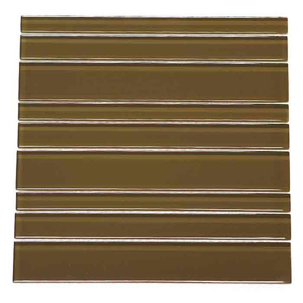 Daltile Maracas Glass - P659 Tortoise Glass Tile Strips Planks - Glossy - $9.99