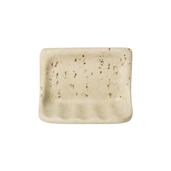 Manufacturer: Daltile, Item: BA725 Soap Dish, Color: Light Travertine, Series: Resin FauxStone Bath Accessory