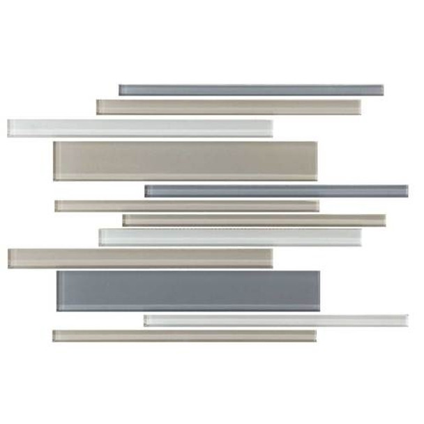 Daltile Color Wave Glass - CW21 Willow Waters Blend - Random Linear Dal Tile Glass Tile - Glossy - Sample