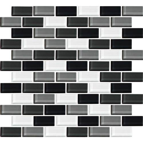 Supplier: Daltile, Series: Color Wave, Name: CW28 Evening Mixer - Glossy, Category: Glass Tile, Size: 1 X 2