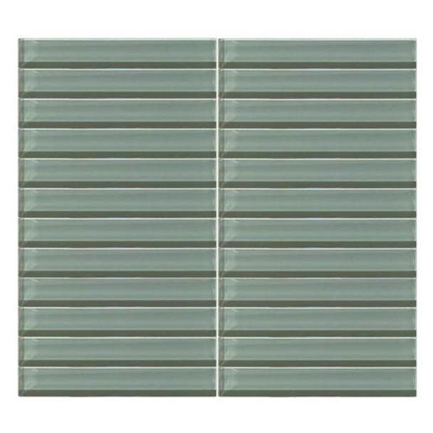 Supplier: Daltile, Series: Color Wave, Name: CW16 Oak Moss- Glossy, Color: White, Category: Glass Tile, Size: 1 X 6