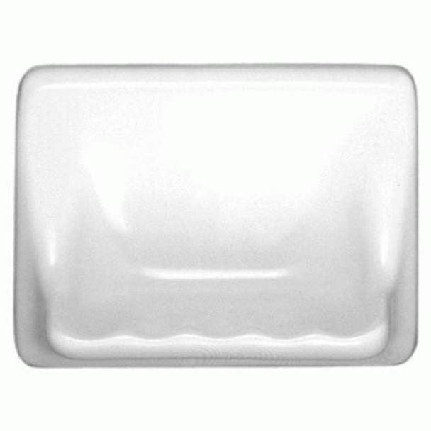 "Supplier: Daltile, Type: Glazed Ceramic Tub / Shower Soap Dish, Name: BA725, Color: 0100 White, Category: Size: 4-3/4"" X 6-5/8"""