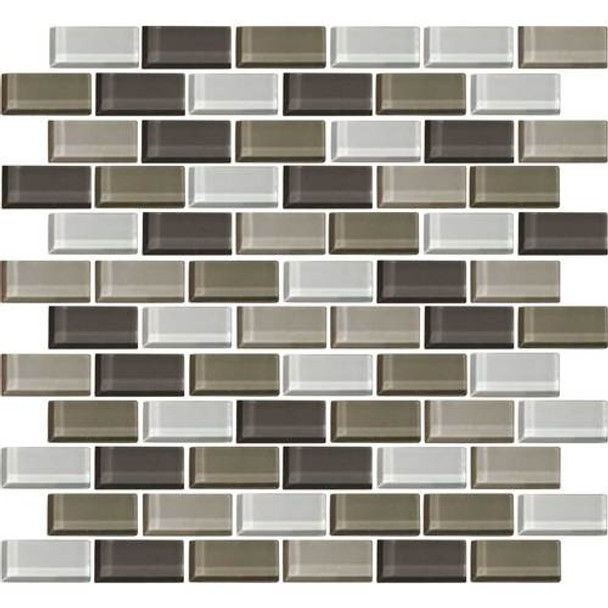 Supplier: Daltile, Series: Color Wave, Name: CW22 Soft Cashmere - Glossy, Category: Glass Tile, Size: 1 X 2