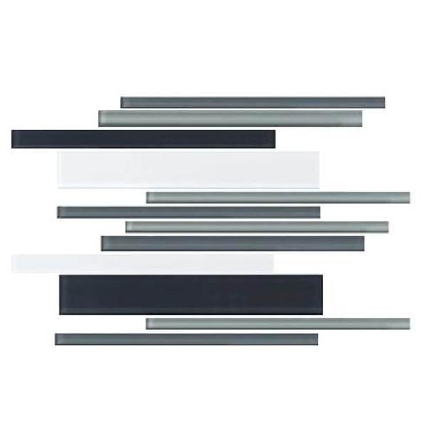 Daltile Color Wave Glass - CW28 Evening Mixer Blend - Random Linear Dal Tile Glass Tile - Glossy