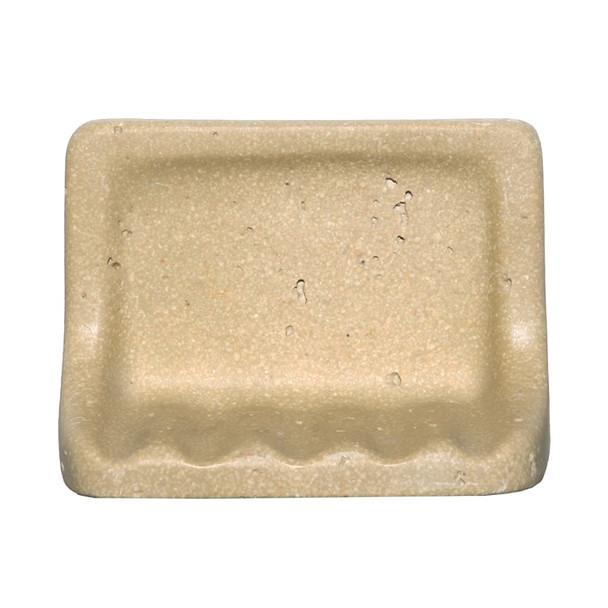 CoverQuik NAT01SD - Soap Dish - Resin Faux Stone - Dark Noce Travertine Color - Bath Accessory - $9.99