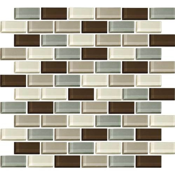 Supplier: Daltile, Series: Color Wave, Name: CW24 Sweet Escape - Glossy, Category: Glass Tile, Size: 1 X 2