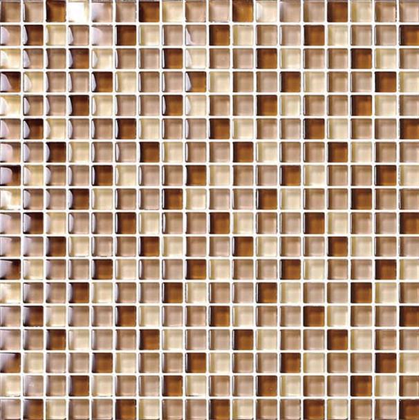 Bristol Studios - Mosaics De Verre - G2338 Rouille Squares - 5/8 X 5/8 Square Glass Tile Mosaic - $7.99