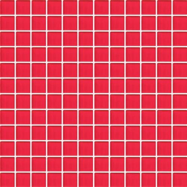 Supplier: Daltile, Series: Color Wave, Name: CW30 Red Hot - Glossy, Category: Glass Tile, Size: 1 X 1