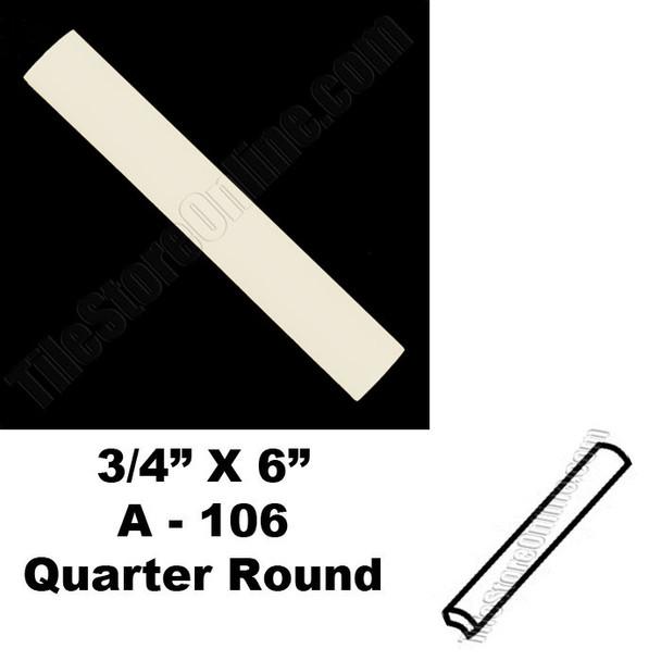 Supplier: Daltile, Type: Glazed Ceramic Tile Accessory Trim Tile, Series: Semi Gloss Quarter Round Bead, Name: 0135 A106, Color: Almond, Category: Ceramic Tile, Price: $.99, Size: 3/4 X 6