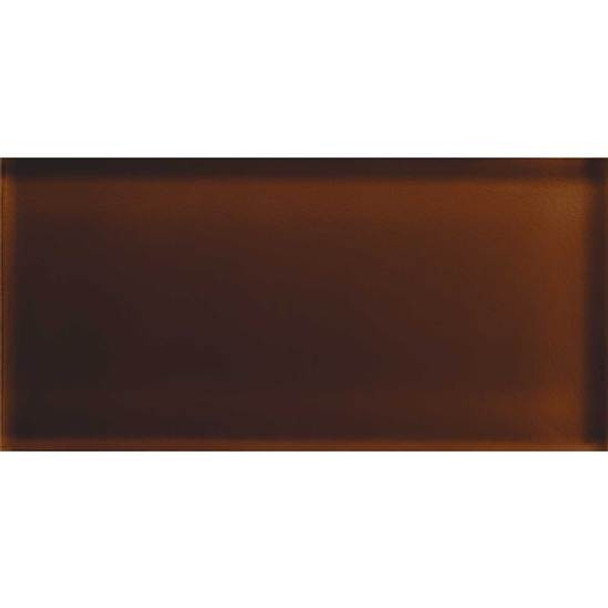 American Olean Color Appeal Glass - C114 Copper Brown - 3X6 Brick Subway Glass Tile - Glossy - Sample