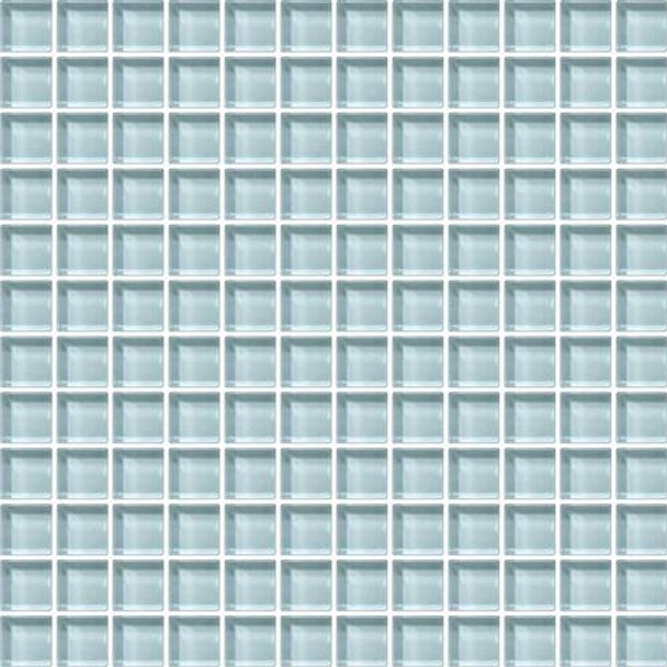 Supplier: Daltile, Series: Color Wave, Name: CW12 Whisper Green - Glossy, Category: Glass Tile, Size: 1 X 1