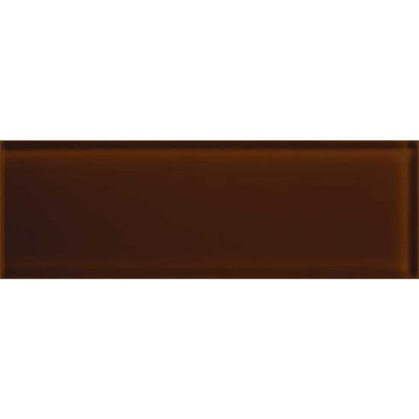 American Olean Color Appeal Glass - C114 Copper Brown - 4X12 Subway Glass Tile Plank - Glossy - Sample