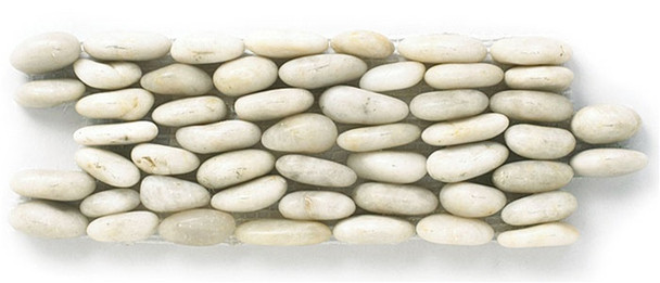 Supplier: Tile Store Online, Type: Stacked Standing River Rock Pebble Stone, Series: Stacked Standing River Rock Pebble Stone, Name: SP 103, Color: Cloud, Category: Natural Stone, Size: 4X12
