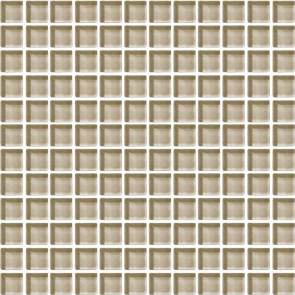 Supplier: Daltile, Series: Color Wave, Name: CW06 Tango Tan - Glossy, Color: White, Category: Glass Tile, Size: 1 X 1