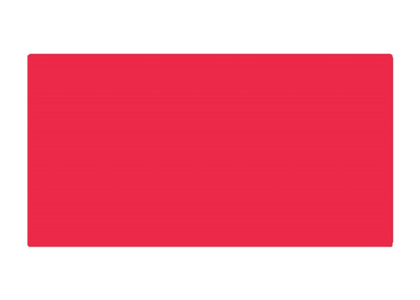Daltile Color Wave Vibrant Glass Tile - CW30 Red Hot - 3 X 6 Brick Subway Dal Tile Glass - Glossy - Sample