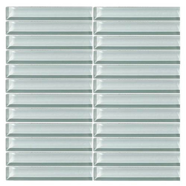 Supplier: Daltile, Series: Color Wave, Name: CW12 Whisper Green - Glossy, Color: White, Category: Glass Tile, Size: 1 X 6