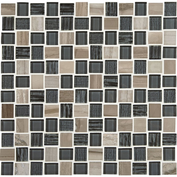 "Supplier: American Olean, Series: Entourage Marble Weave, Name: MW06 Stonehenge, Type: Glass & Stone MosaicTile, Size: 1"" X 1"""