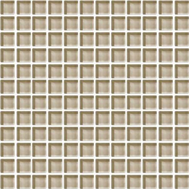 Daltile Color Wave Glass - CW06 Tango Tan - 1 X 1 Dal Tile Glass Tile - Glossy - Sample