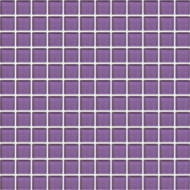 Supplier: Daltile, Series: Color Wave, Name: CW31 Purple Magic - Glossy, Category: Glass Tile, Size: 1 X 1