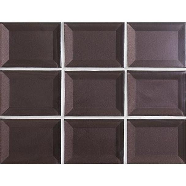 Marazzi - Luminescence LM14 Violet - 3 X 4 Beveled Glass Mosaic - Sample