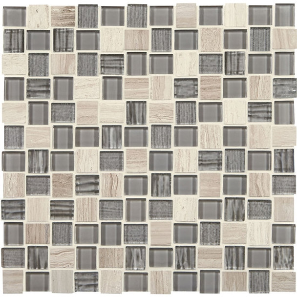 """Supplier: American Olean, Series: Entourage Marble Weave, Name: MW11 Catacombs, Type: Glass & Stone MosaicTile, Size: 1"""" X 1"""""""
