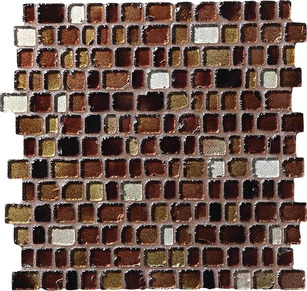 Daltile Fanfare Jewel Tide Glass Mosaic - JT06 Cobblestone - 3/4 X Random Tumbled Glossy Sea Glass Style - Sample